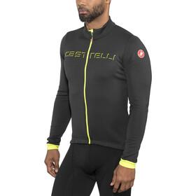 Castelli Fondo Maillot à manches longues avec zip Homme, light black/yellow fluo
